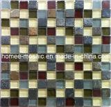 Tuile mélangée de mur de tuile de cuisine de tuiles de mosaïque d'ardoise et en verre
