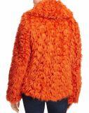 Recortada de la moda de invierno de la mujer abrigos de piel sintética de venta al por mayor para Navidad