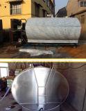 ISO9001 de goedgekeurde Horizontale Tank van de Opslag van het Roestvrij staal voor Melk (ace-znlg-S7)