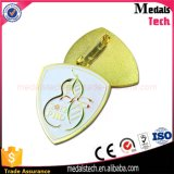Oro placcato intorno al distintivo molle di Pin del risvolto dell'uccello del metallo dello smalto