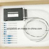 원거리 통신 수동적인 섬유 Optier 4+4CH DWDM 1550nm Sc/APC 플라스틱 상자 0.9mm 1.5m