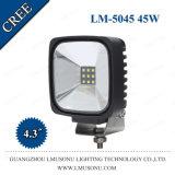 """4.3"""" IP67 10-30V faisceau spot d'inondation crie de forte luminosité off road Square 45W phare de travail à LED"""