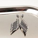 Brincos de Diamante de prata de moda para as mulheres de jóias