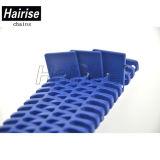 Bande de conveyeur modulaire de flanc en plastique bleu de Hairise à vendre