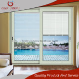 Modern Style Aluminum Profiles Double Glazing Door with Shutters