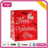 Bolsas de papel del regalo de los cosméticos de la boda del corazón del amor del día de tarjeta del día de San Valentín