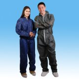 SHORT MESSAGE SERVER Blue Coverall, Nonwoven SBPP Coverall for Safety Clothes