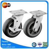 Heavy Duty 200kg capacité PU Roulette pivotante de roue