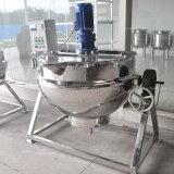 電気加熱ジャケットのやかんか鍋を傾けるステンレス鋼