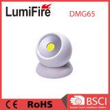 円形3W穂軸LEDのキャビネット強い磁石が付いている360度作業ライト