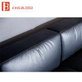 Sofá preto superior do couro genuíno de Nappa do estilo de Italy ajustado para a sala de visitas