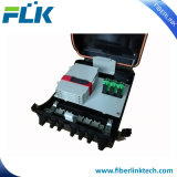 FTTX FTTHの空気の壁のポーランド人によって取付けられる光ファイバインライン配電箱アクセスネットワーク機構