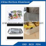 使い捨て可能なアルミホイルの食糧皿の版ロール容器