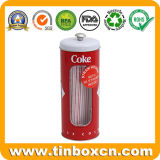 Food Grade de metal personalizados Tall Tin Box para bebidas botella