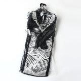 O pedido americano, Joelho-Comprimento da geometria da alta qualidade fêz malha vestidos