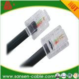 заводская цена плоских и круглых Cat3 телефонный кабель RJ11