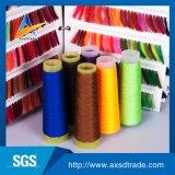 マルチカラー100%はポリエステル縫う糸染められたカラーヤーンを回した