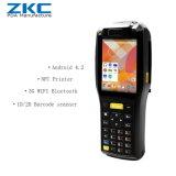 Scanner industriale PDA del codice a barre di Andriod con la stampante di 3G WiFi Bluetooth NFC RFID