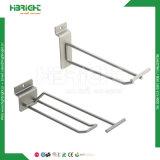 Crochets de présentoir de fil d'acier en métal