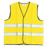 Высокая видимость желтая отражательная безопасности Майка