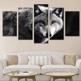 HD напечатало волка глаза искусствоа холстины части 5 красного крася новым произведение искысства холстины стены 2017 обрамленное искусствоом
