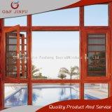 Marco de aluminio Windows del grano de madera termal de gama alta de la rotura