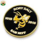 Recuerdos de Oro de forma redonda moneda con el logotipo personalizado