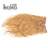 ブラジルの人間の毛髪セットの毛の拡張の18インチのねじれた巻き毛クリップ
