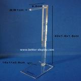 Crémaillère d'étalage acrylique claire de courroie pour le détail