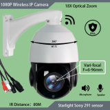 dialogo bidirezionale Vari-Focale di 18X 1080P F=6-96mm audio sviluppato nella macchina fotografica senza fili del IP della scheda PTZ di deviazione standard