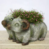 Les beaux moutons justes neufs Sculpt le décor drôle de modèle de bac de fleur Nice