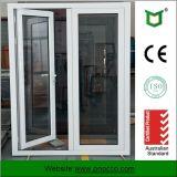 건축재료 강화 유리를 가진 알루미늄 여닫이 창 문