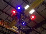 9-60V 120W 72W Punto Azul Línea Roja Luz de advertencia de grúa