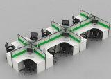 Mode utilisé en verre en forme de bureau en bois Bureau de poste de travail de partition (SZ-WST614)