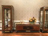 Il legno solido 0069 ha coperto l'alta vetrina della pittura di lucentezza dell'impiallacciatura di lusso