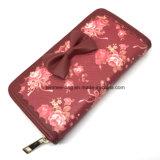 Верхняя часть Lcq-27 продавая печатание цветка кожи PU самое последнее Промелькивать-Вокруг бумажника женщин муфты портмона способа