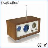 Radio di legno FM (XH-FM-018) della sveglia di esposizione multifunzionale di temperatura retro