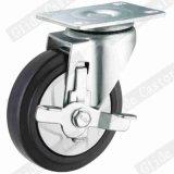 중간 의무 탄력 있는 고무 회전대 피마자 바퀴 G3414
