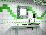 녹색 4X8inch/10X20cm는 광택 있는 세라믹 벽 지하철 도와 목욕탕 또는 부엌 훈장을 윤이 났다