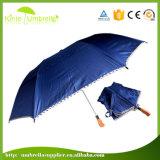le parapluie pliable bleu des panneaux 23inch 8 avec automatique s'ouvrent