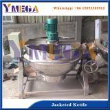 Aço inoxidável completa 300 litro Industrial Jarro para cozinhar com camisa de vapor