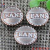 Настраиваемые логотип торговой марки с маркировкой джинсы кнопки и заклепки
