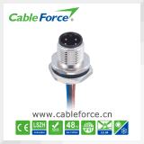 M12 4pin штекер круглый разъем панели управления установите разъем заднего застегнут водонепроницаемый разъем жгута проводов