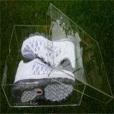 Caixa de sapata acrílica plástica desobstruída