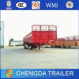 Glasvezel 40 van Flatbed van de Lading Voet Aanhangwagen van de Zijgevel Semi