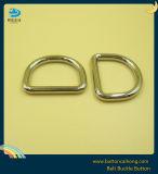 De D-vormige ring van de Hardware van het metaal voor Handtassen met Zilveren Kleur