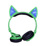 De gloeiende Hoofdtelefoon van de Hoofdtelefoon Bluetooth van het Oor van de Kat Leuke Draadloze voor Meisjes