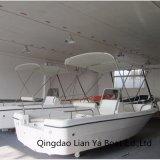 Bateau de pêche de bateau de fibre de verre de Liya 16.5feet Chine avec le T-Dessus