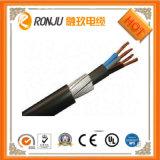 Cavo di rame elettrico resistente al fuoco basso/medio del fodero U-1000 RO2V del PVC dell'isolamento del fornitore XLPE del cavo di tensione