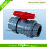 Unión doble válvula de bola de plástico de UPVC